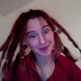 The first day of my first dreads...haha :D