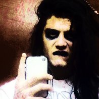 I was trying to be Marilyn Manson hhaha