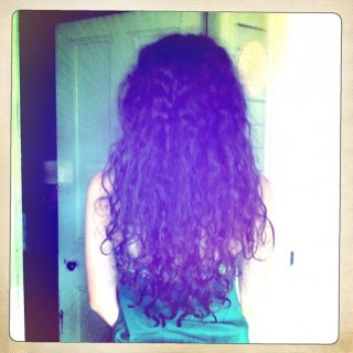still looking like a curly mess on the most part, but i don't mind!