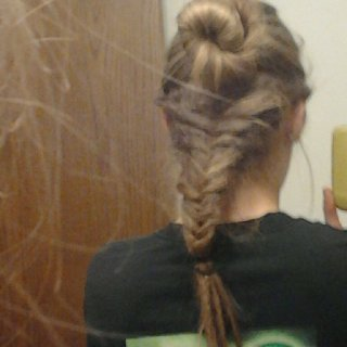 Fish tail braided locs <3
