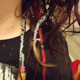 decorated my dreads d