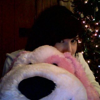 I found this big guy under the tree on Christmas! I named him milkshakes and is a very effective body pillow.