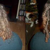 before and after dreads