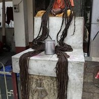 Hindu holy man long hair