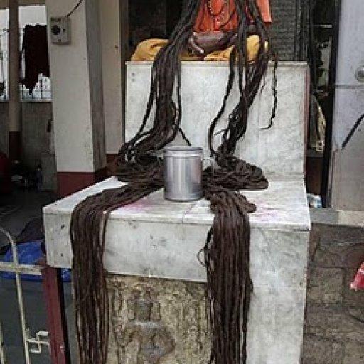 Hindu holy man long hair