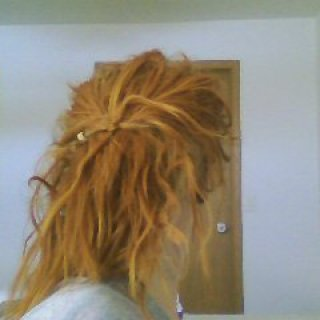 sometimes my dreads will actually hold themselves up for a while now :)