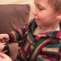Landon helping2