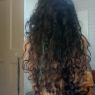 8 months of natural dreads, still a curly mess!
