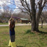 Hooping in the sunshine!