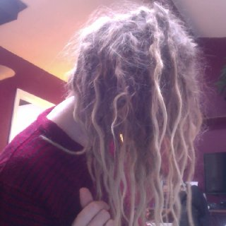 some of the dreads are wavvvvyy.