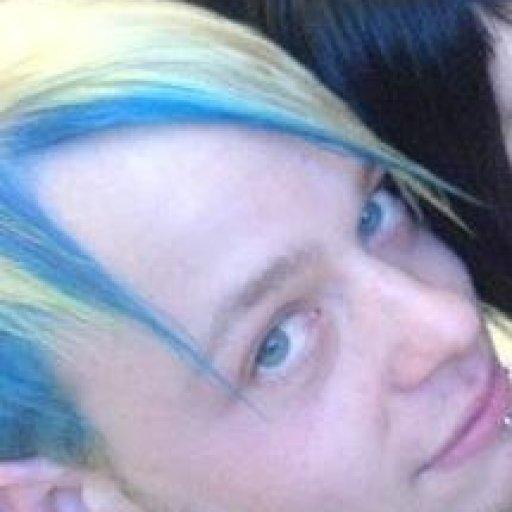 My old blue & blonde hair!