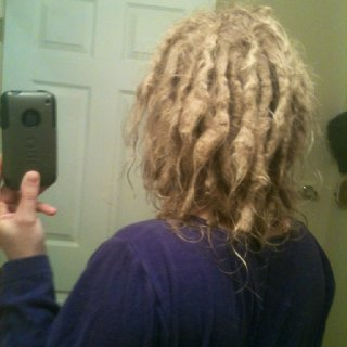1 year natural dreads