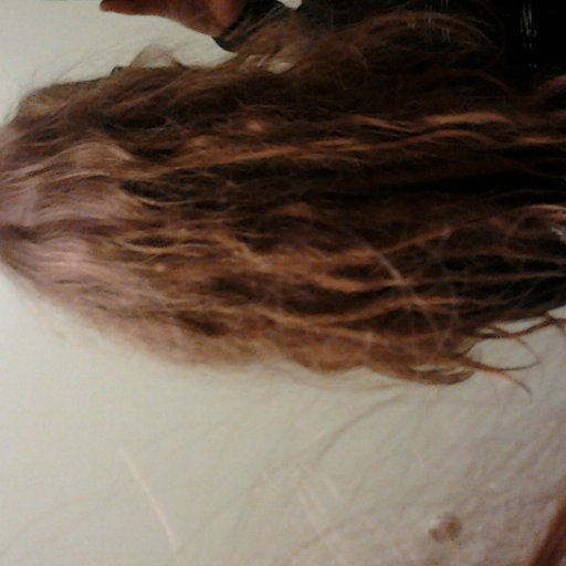 Back of head, one month of neglect. :)