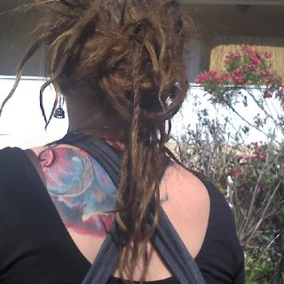 my dreads at a month and two weeks.