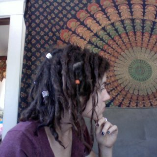 after snapping this picture (and after nine months), it's starting to look like i might have some dreadlocks
