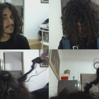 i took this picture when i woke up today, i still have a lot of loosen hair and frizz, i hope it will settle soon