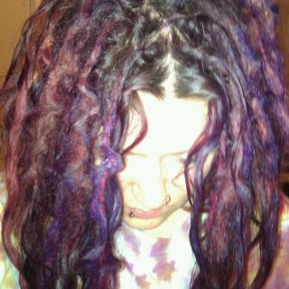purple manic panic dye before i rinsed it out.