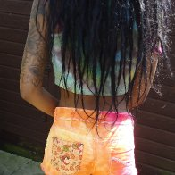 New shorts that I 'up-cycled' and hair from the back.