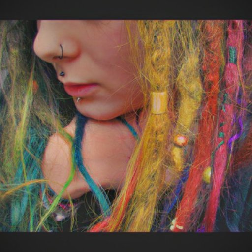 Colourful dreads.