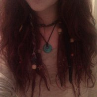 Dreads among normal loose hair :)