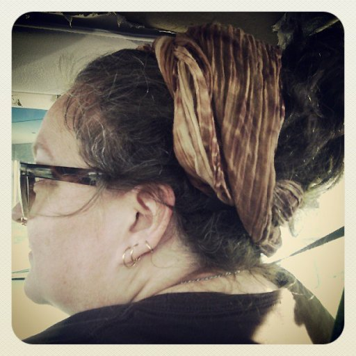 My attempt at a dread bun