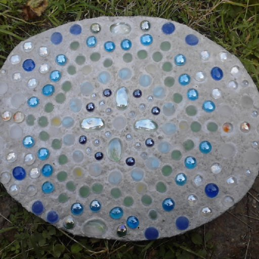 Handmade stepping stone