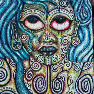 I create original one of a kind pen and colored pencil drawings. www.darkmoondoll.etsy.com