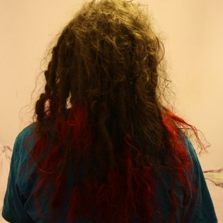 Dyed the tips bright red just for a bit :) almost 23 months.