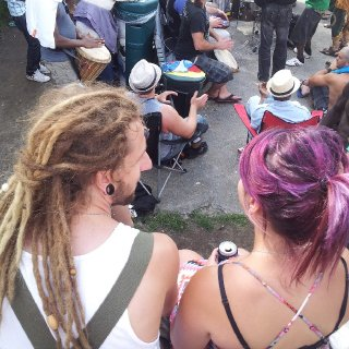 Me and my gf at the festival in montreal