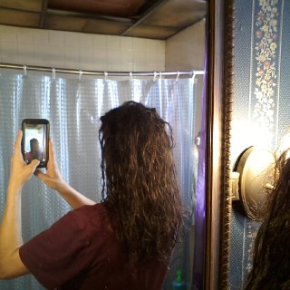 First week into freeform dreads! Not doing anything to my hair,besides washing :]