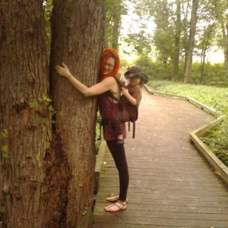 Yep, I hug trees hehe.