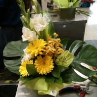 Yellow and White Arrangement (My First Ever)
