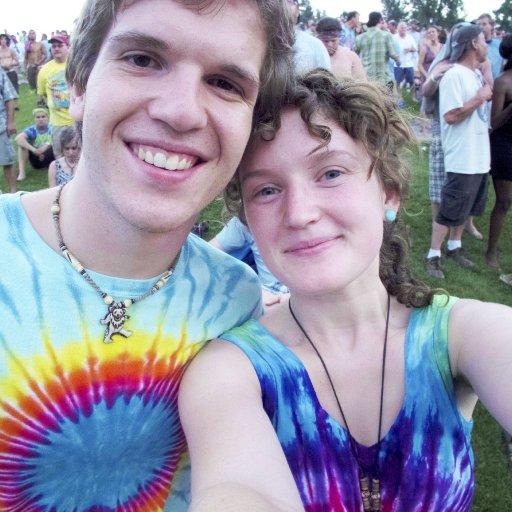 Tie dye couple <3 :)
