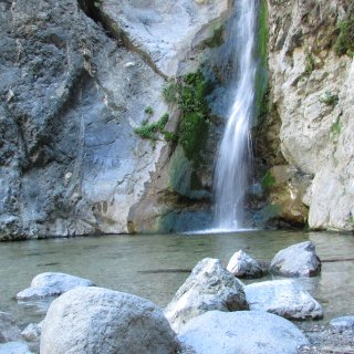 1 of the many waterfalls in the wilderness of so cal
