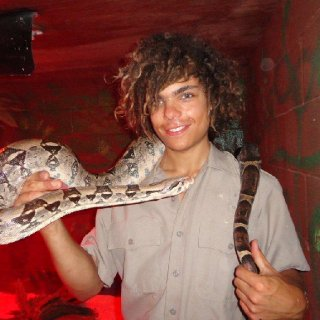 My dreads and oh yea.. a red tail boa, voodoo.. Miss her <3