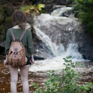 My boyfriend took this photo of me when we where out looking at some waterfalls in Sweden :)