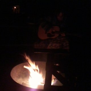 BEN PLAYIN SOME TUNES AN SINGING GOOD OL CAMP FIRE