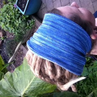 dreads in the garden