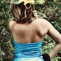 floral hologram pinup girl