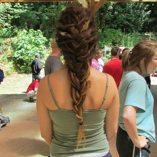 Used this hairstyle everyday while up in the mountains *-*