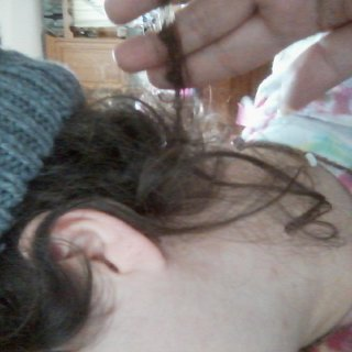 aww lil ringlet in back of my head are starting to dread aw