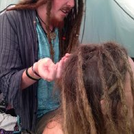 Having my dreads put in