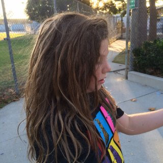 Willow my little dreadhead, she is loving her hair! All natural!