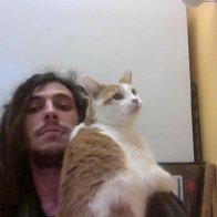 Kitty friend at work.