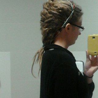 Fish tail braid at work. :)