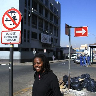 In Johannesburg, near Lucky Dube's Studio.
