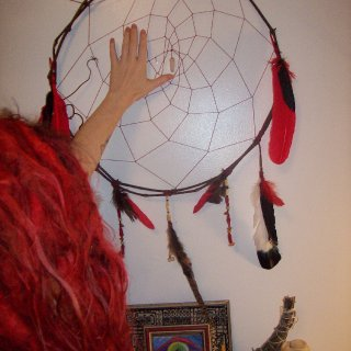 I make things <3  https://www.etsy.com/listing/171384878/dark-moon-dream-catcher?ref=shop_home_active  Support local and handmade crafters, not big corporations when you shop as much as possible. <3