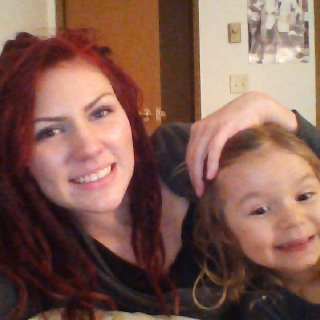 My baby daughter and I