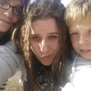 Taken 1/4/14. The Most Current Picture of my dreadlocks. Those Kids with me are AlyKat and Tanq. ;P Not Mine, but still awesome kids.