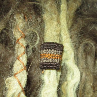 Brown macrame dread bead wrap sleeve from my online store